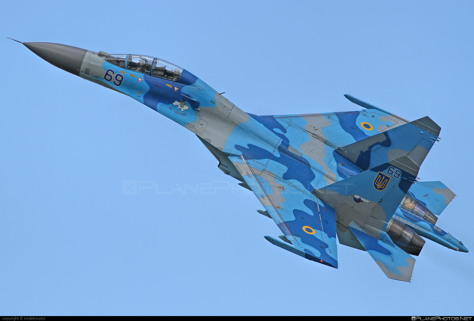Sukhoi Su-27UB - 69 operated by Povitryani Syly Ukrayiny (Ukrainian Air Force) #povitryanisylyukrayiny #radomairshow #radomairshow2013 #su27 #su27ub #sukhoi #sukhoi27 #ukrainianairforce