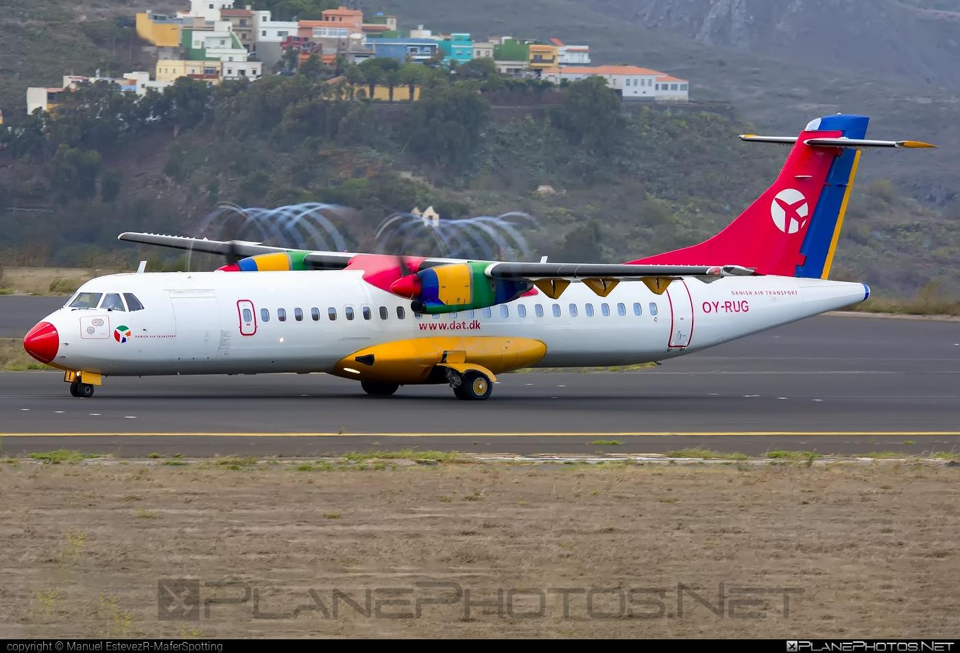 ATR 72-202 - OY-RUG operated by Danish Air Transport (DAT) #atr