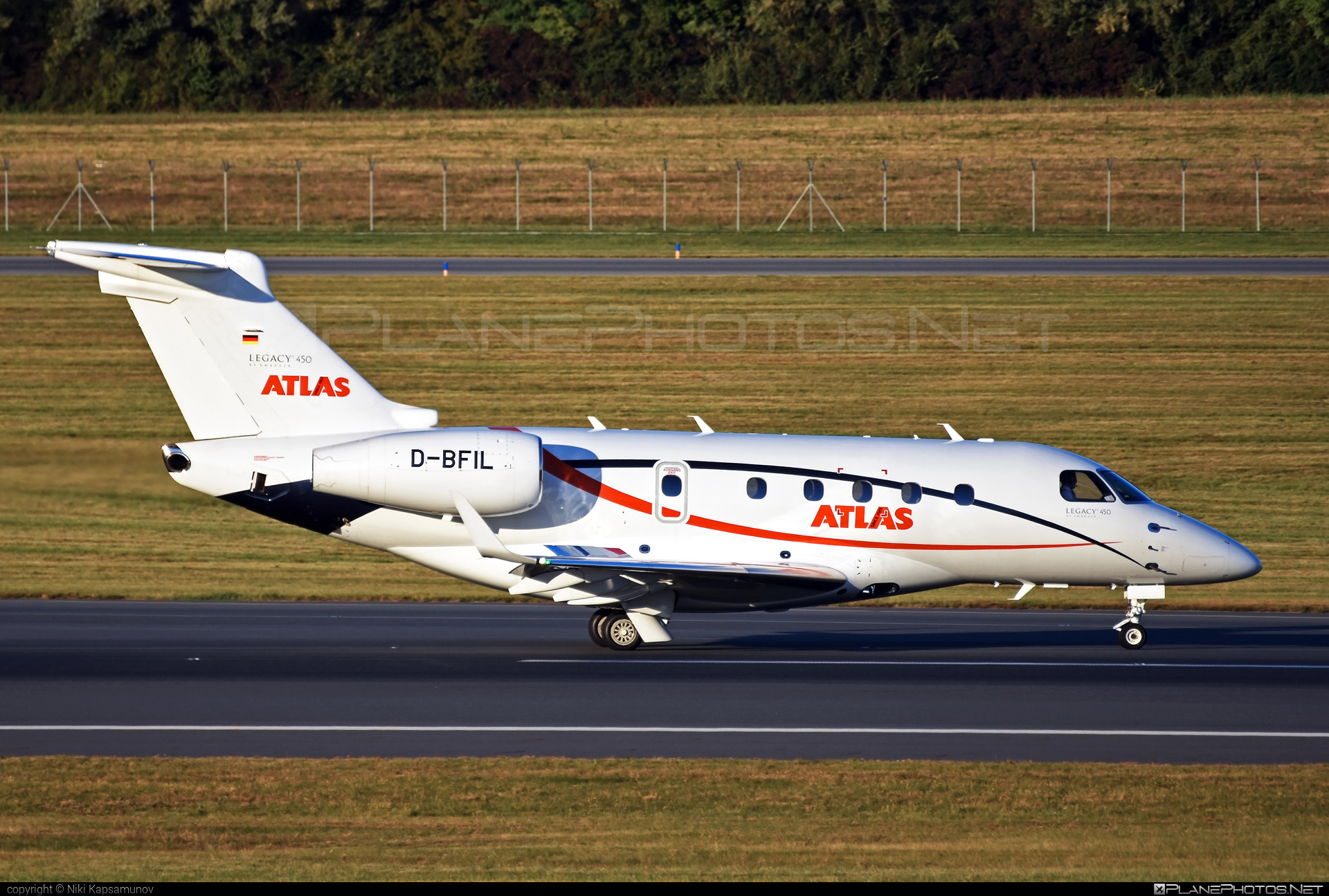 Embraer EMB-545 Legacy 450 - D-BFIL operated by Atlas Air Service #emb545 #embraer #embraer545 #embraerlegacy #legacy450