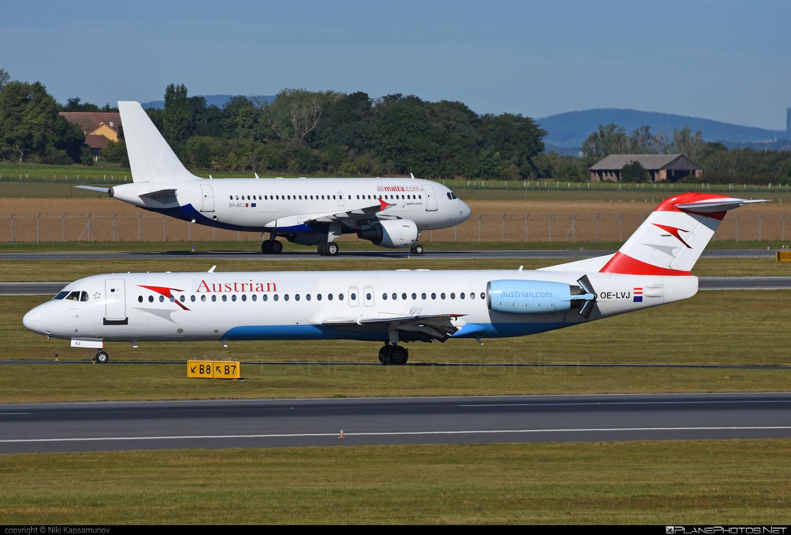 Austrian Airlines Fokker 100 - OE-LVJ #fokker