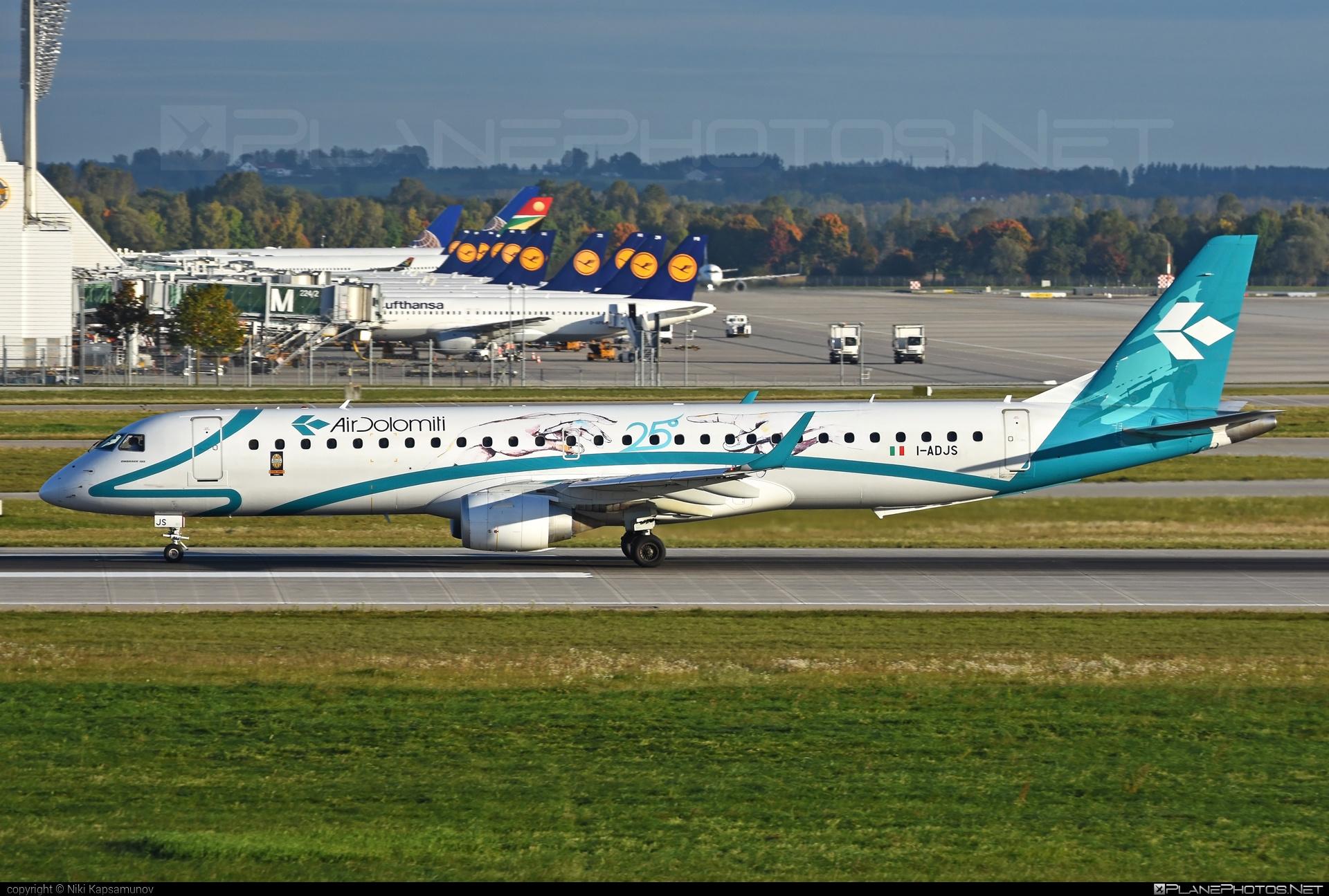 Embraer E195LR (ERJ-190-200LR) - I-ADJS operated by Air Dolomiti #airdolomiti #e190 #e190200 #e190200lr #e195lr #embraer #embraer190200lr #embraer195 #embraer195lr