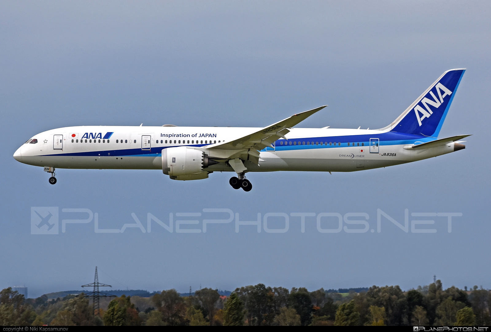 All Nippon Airways (ANA) Boeing 787-9 Dreamliner - JA836A #b787 #boeing #dreamliner