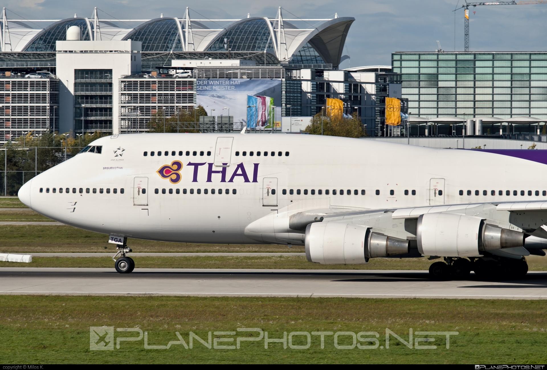 Boeing 747-400 - HS-TGA operated by Thai Airways #b747 #boeing #boeing747 #jumbo #thaiairways