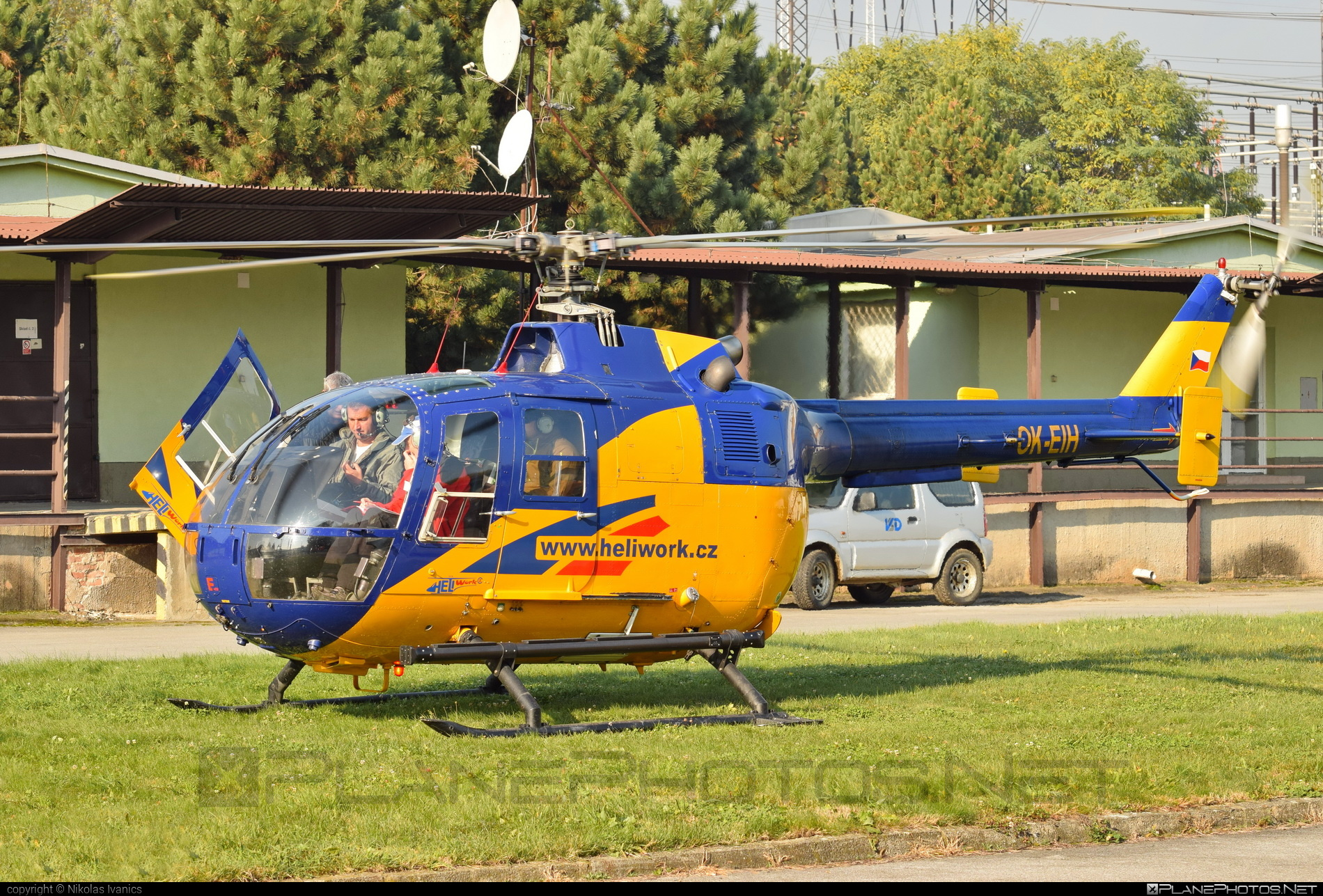 MBB Bo 105CB - OK-EIH operated by Heliwork CZ #mbb