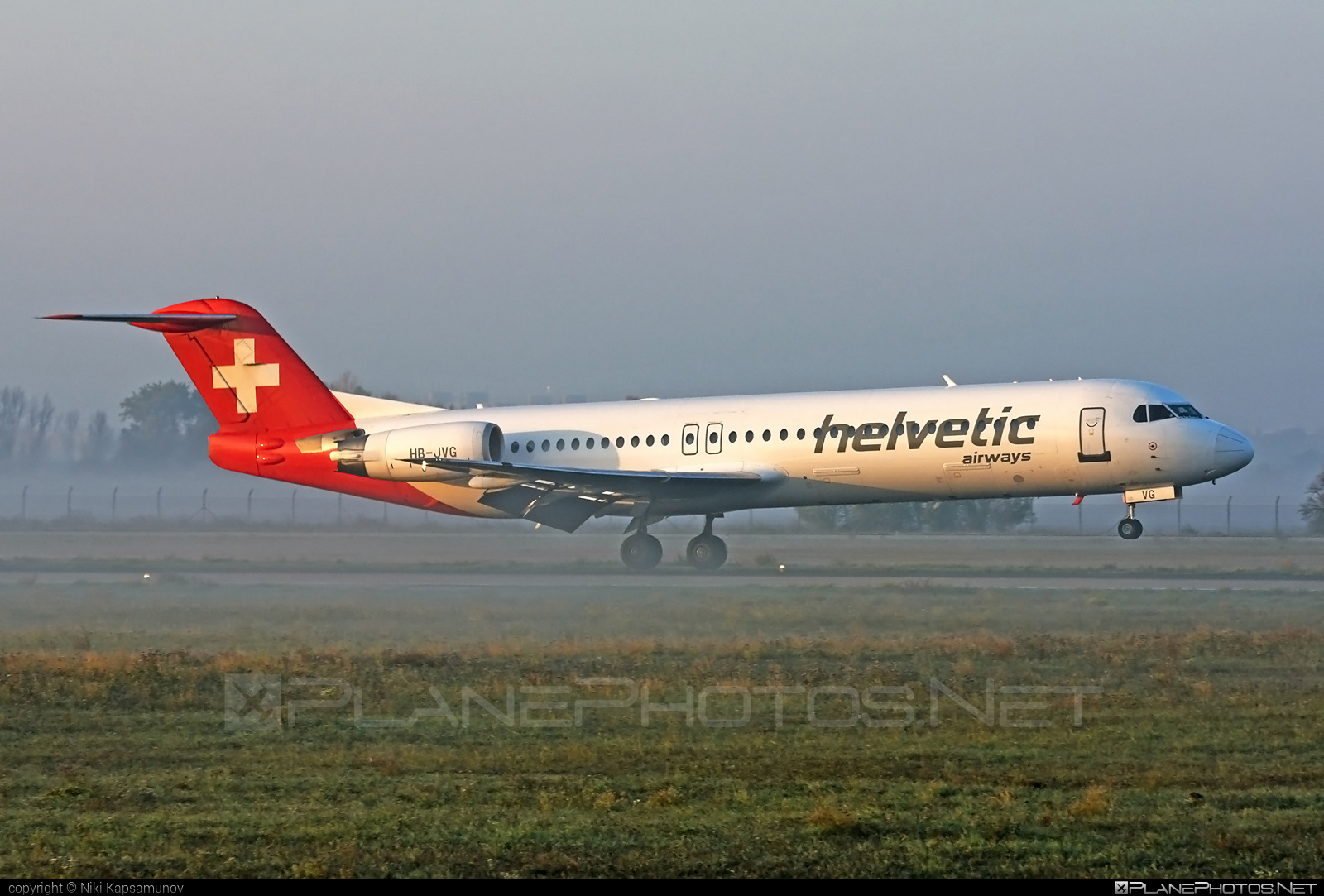 Fokker 100 - HB-JVG operated by Helvetic Airways #fokker