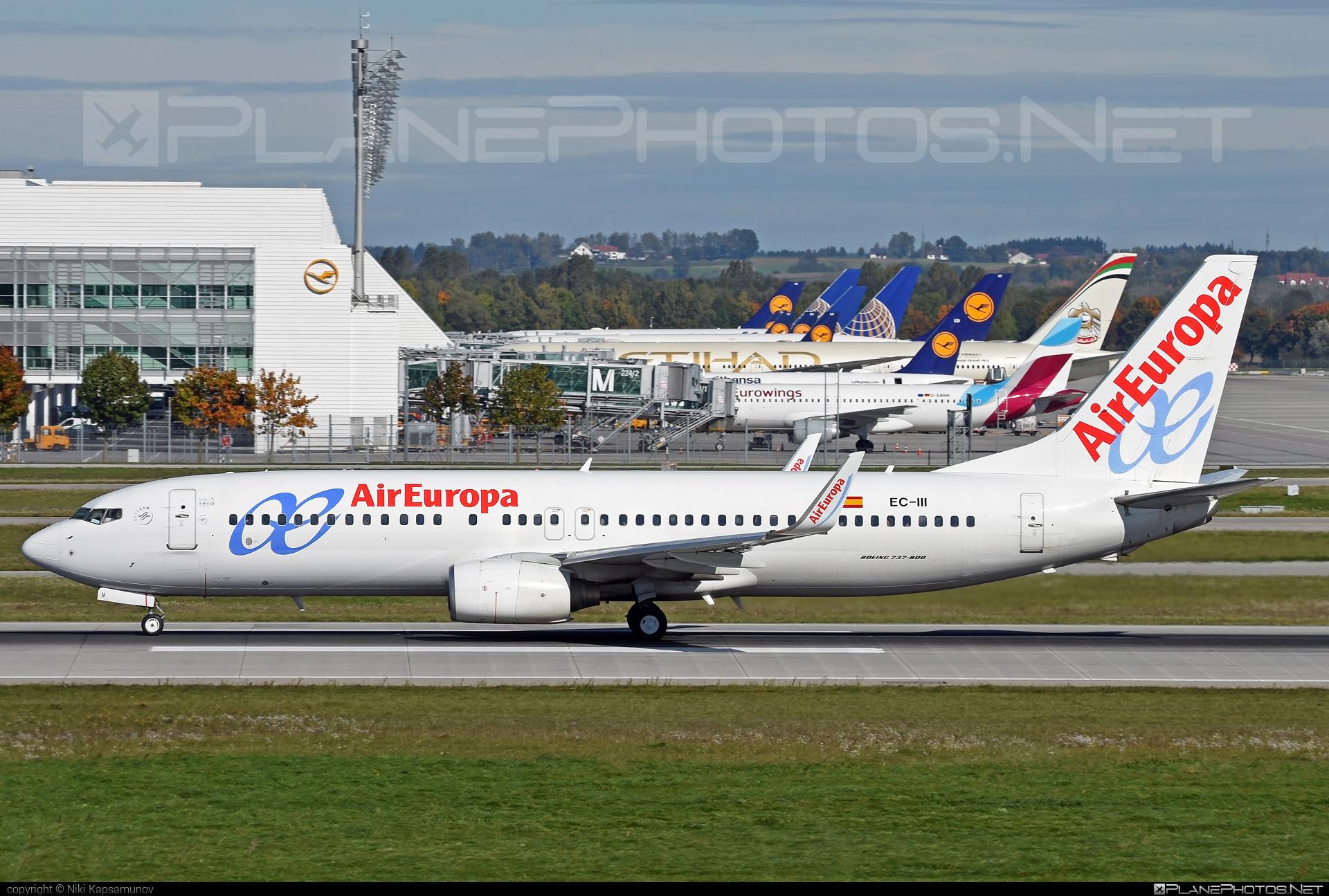 Boeing 737-800 - EC-III operated by Air Europa #b737 #b737nextgen #b737ng #boeing #boeing737