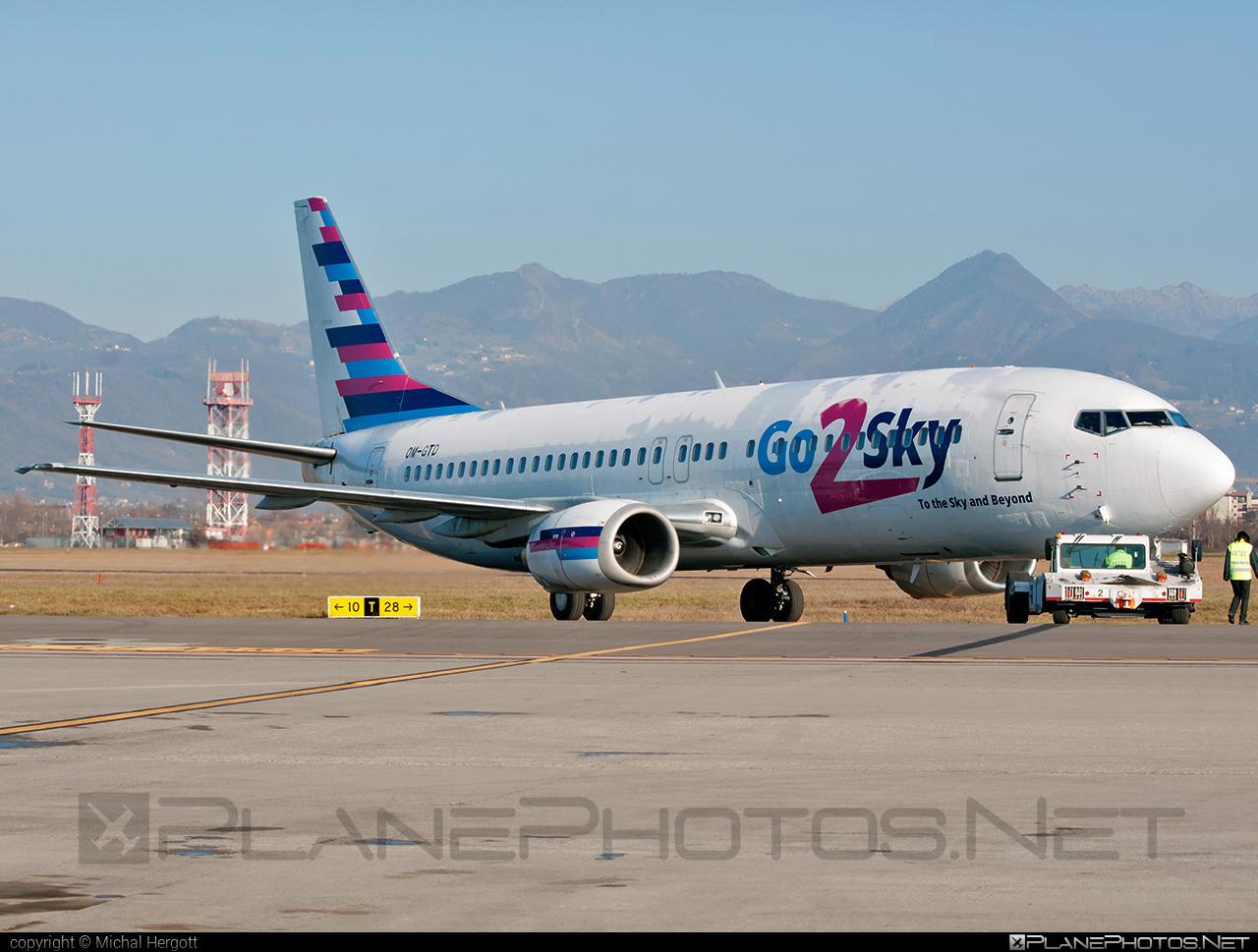 Boeing 737-400 - OM-GTD operated by Go2Sky #b737 #boeing #boeing737 #go2sky