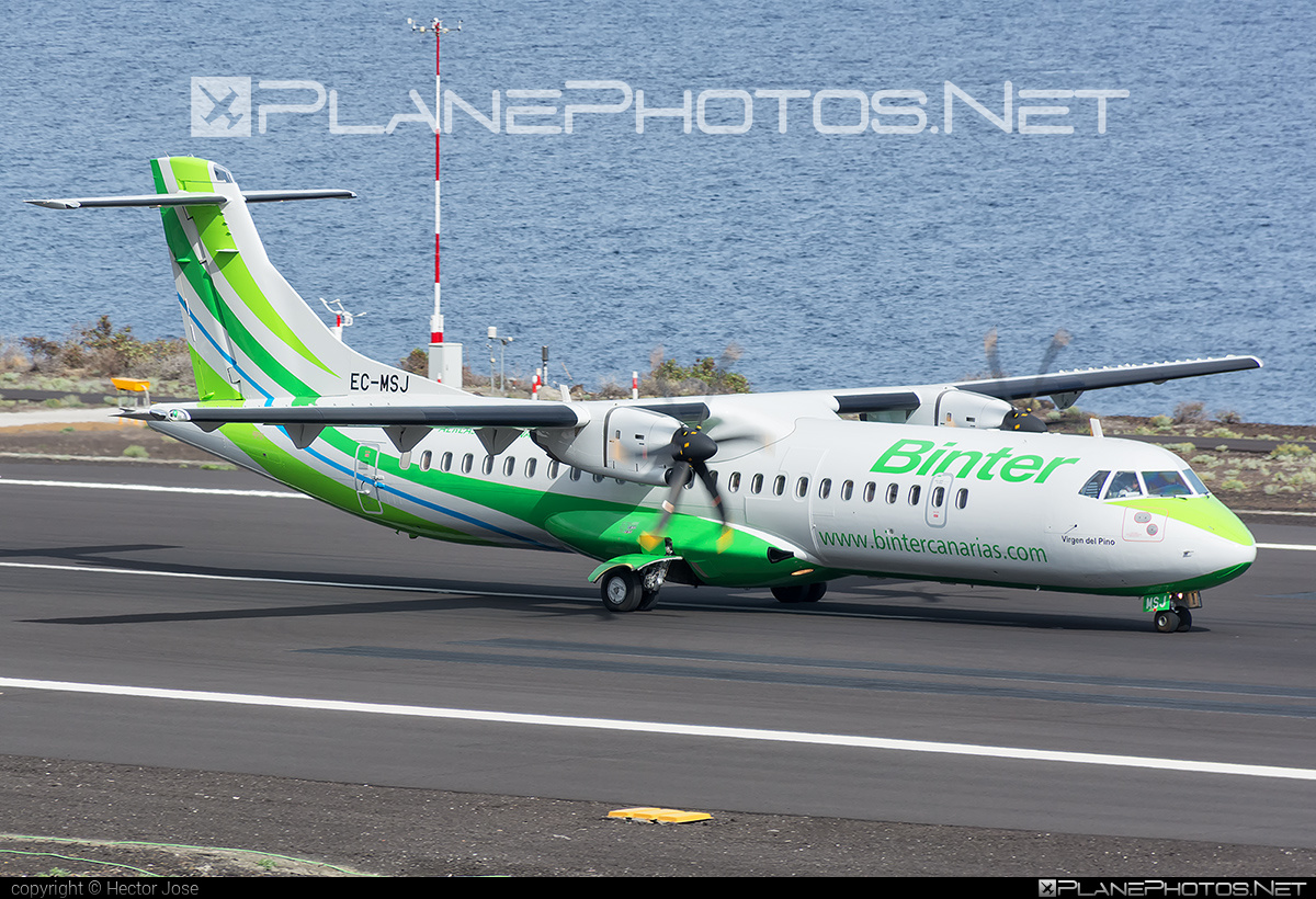 ATR 72-600 - EC-MSJ operated by Binter Canarias #atr
