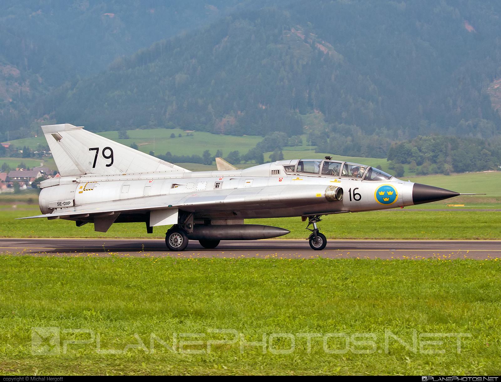 Saab Sk 35C Draken - SE-DXP operated by Swedish Air Force Historic Flight #airpower2016 #draken #saab #saab35 #saabdraken #saabsk35c #saabsk35cdraken #saabsk35draken #sk35cdraken