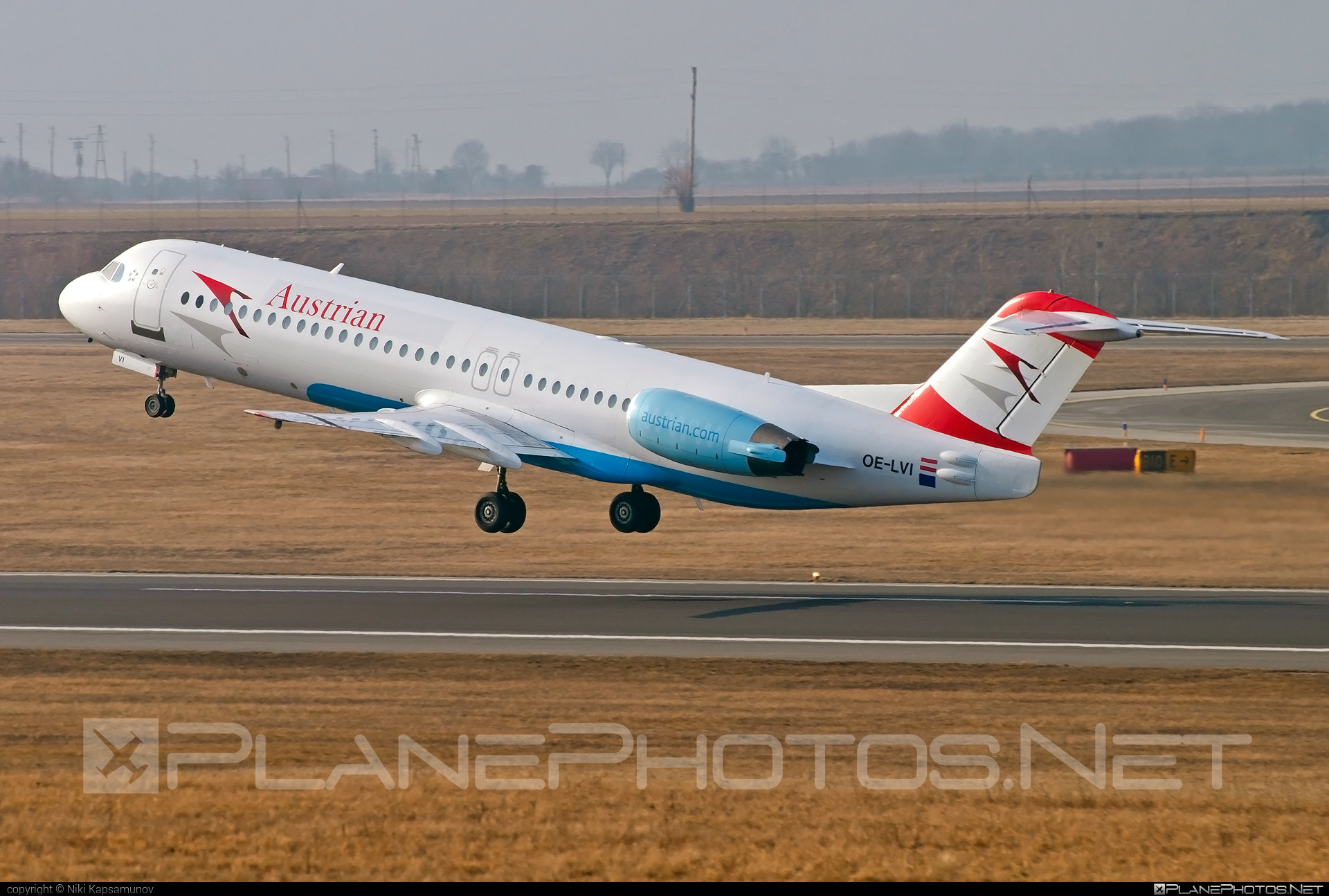 Fokker 100 - OE-LVI operated by Austrian Airlines #fokker