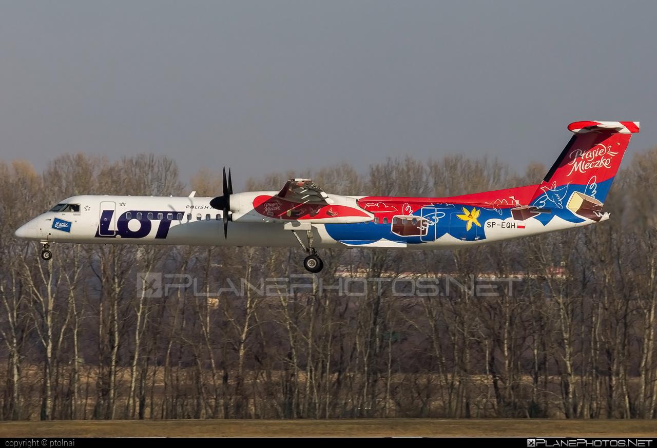 LOT Polish Airlines Bombardier DHC-8-Q402 Dash 8 - SP-EQH #bombardier #lot #lotpolishairlines