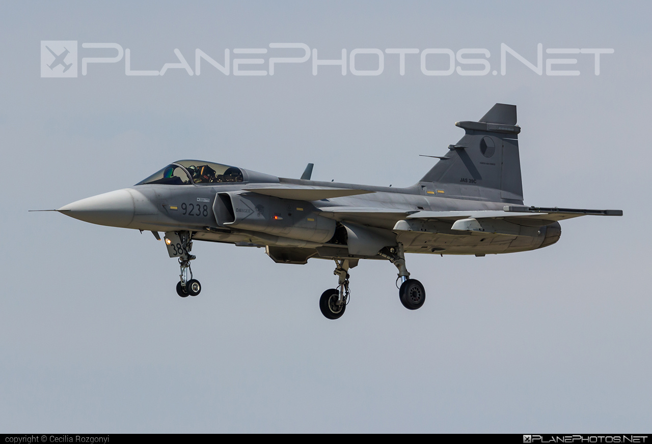 Saab JAS 39C Gripen - 9238 operated by Vzdušné síly AČR (Czech Air Force) #czechairforce #gripen #jas39 #jas39c #jas39gripen #saab #vzdusnesilyacr