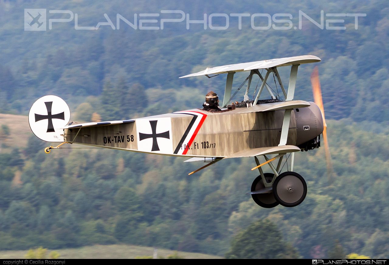 Fokker DR.1 Triplane (replica) - OK-TAV 58 operated by Private operator #fokker