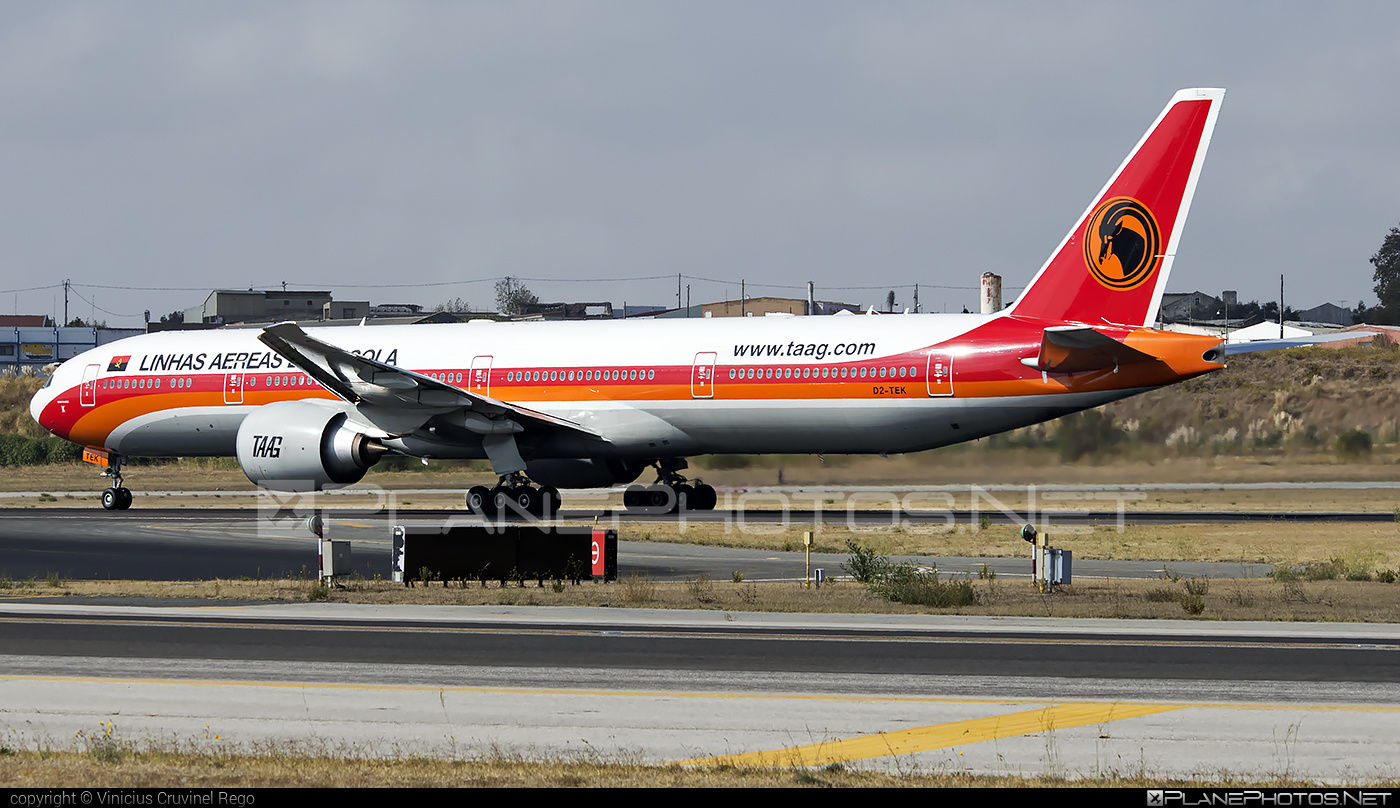 Boeing 777-300ER - D2-TEK operated by TAAG Linhas Aéreas de Angola #b777 #b777er #boeing #boeing777 #tripleseven
