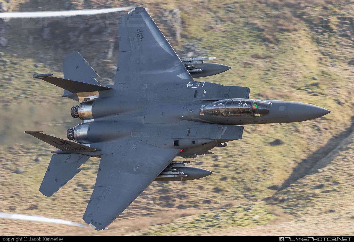 Boeing F-15E Strike Eagle - 97-0222 operated by US Air Force (USAF) #boeing #machloop #usaf #usairforce