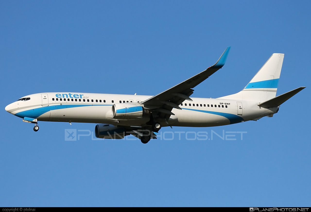 Boeing 737-800 - SP-ENT operated by Enter Air #b737 #b737nextgen #b737ng #boeing #boeing737