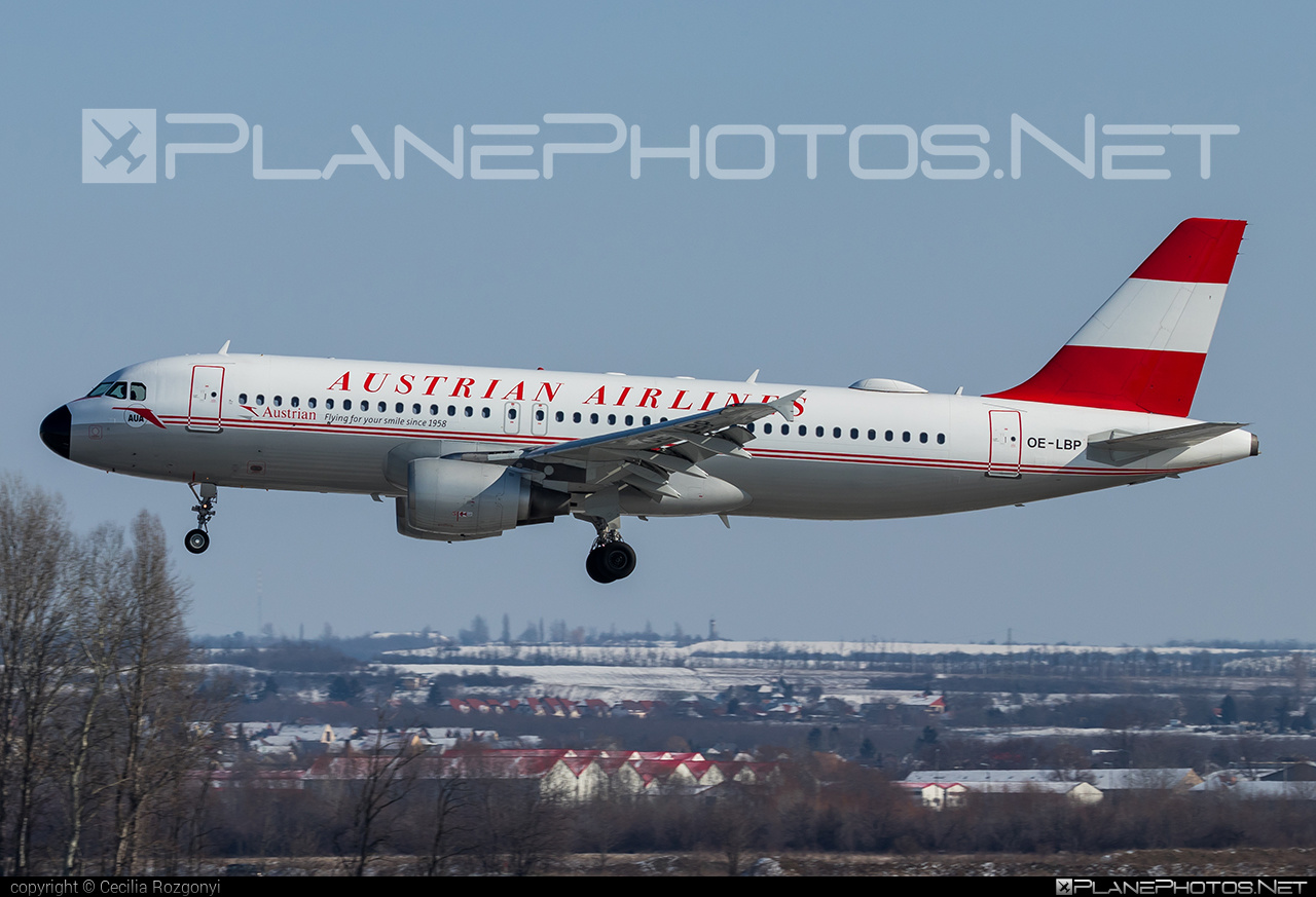 Airbus A320-214 - OE-LBP operated by Austrian Airlines #a320 #a320family #airbus #airbus320 #retro