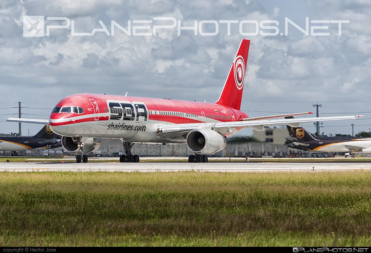 Boeing 757-200 - YV450T operated by Santa Barbara Airlines #b757 #boeing #boeing757