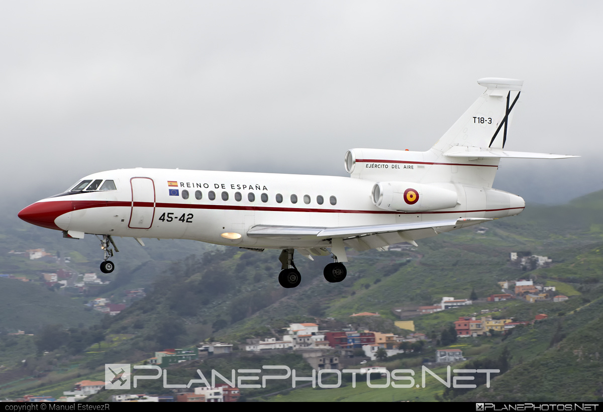 Dassault Falcon 900B - T.18-3 operated by Ejército del Aire (Spanish Air Force) #dassault #ejercitodelaire #spanishairforce
