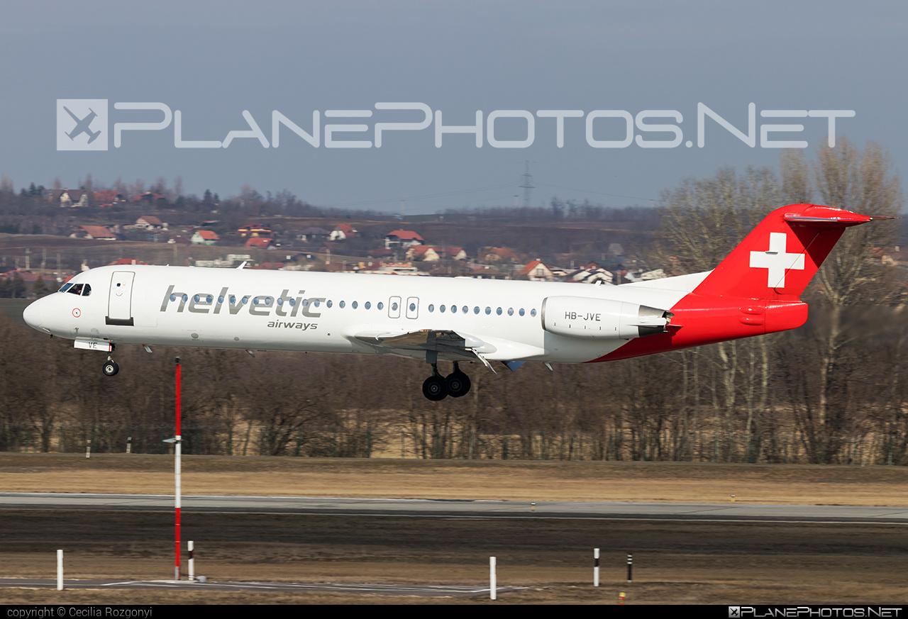 Fokker 100 - HB-JVE operated by Helvetic Airways #fokker