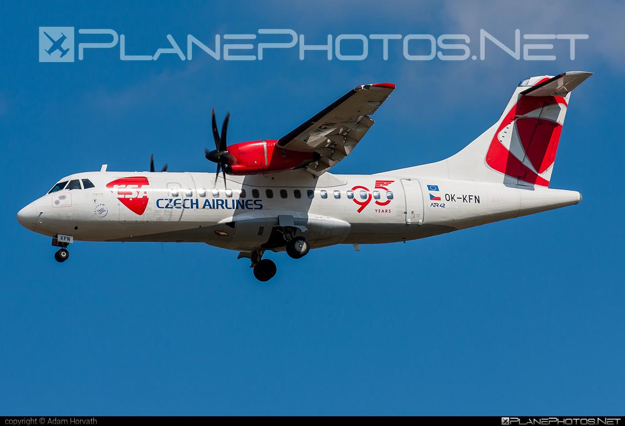 ATR 42-500 - OK-KFN operated by CSA Czech Airlines #atr #atr42 #atr42500 #csa #czechairlines