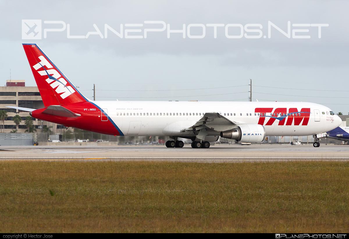 Boeing 767-300ER - PT-MSU operated by TAM Linhas Aéreas #b767 #b767er #boeing #boeing767 #tam #tamairlines #tamlinhasaereas