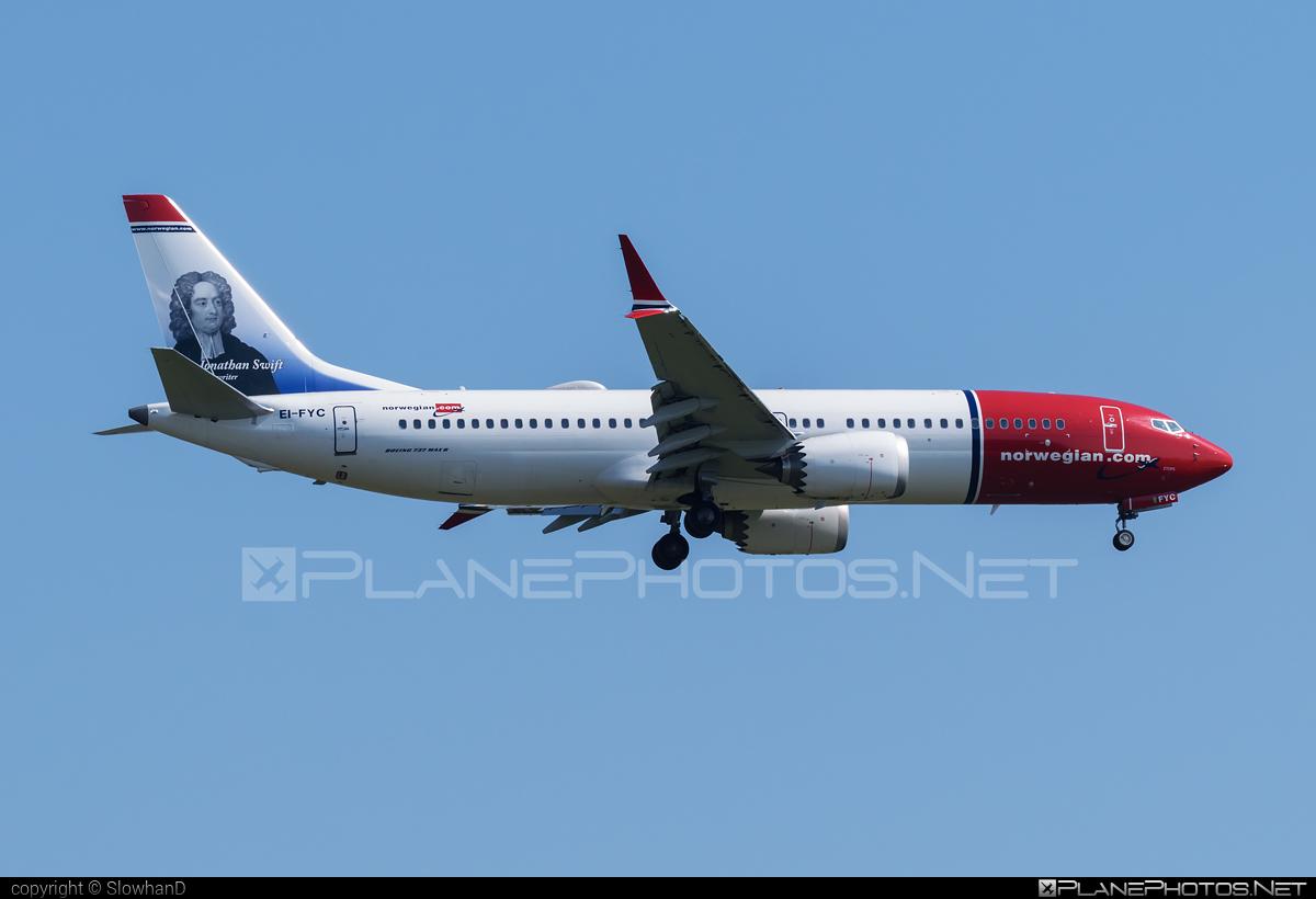 Boeing 737-8 MAX - EI-FYC operated by Norwegian Air International #b737 #b737max #boeing #boeing737 #norwegian #norwegianair #norwegianairinternational