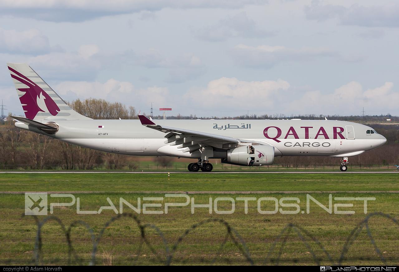 Qatar Airways Cargo Airbus A330-243F - A7-AFV #a330 #a330family #airbus #qatarairwayscargo