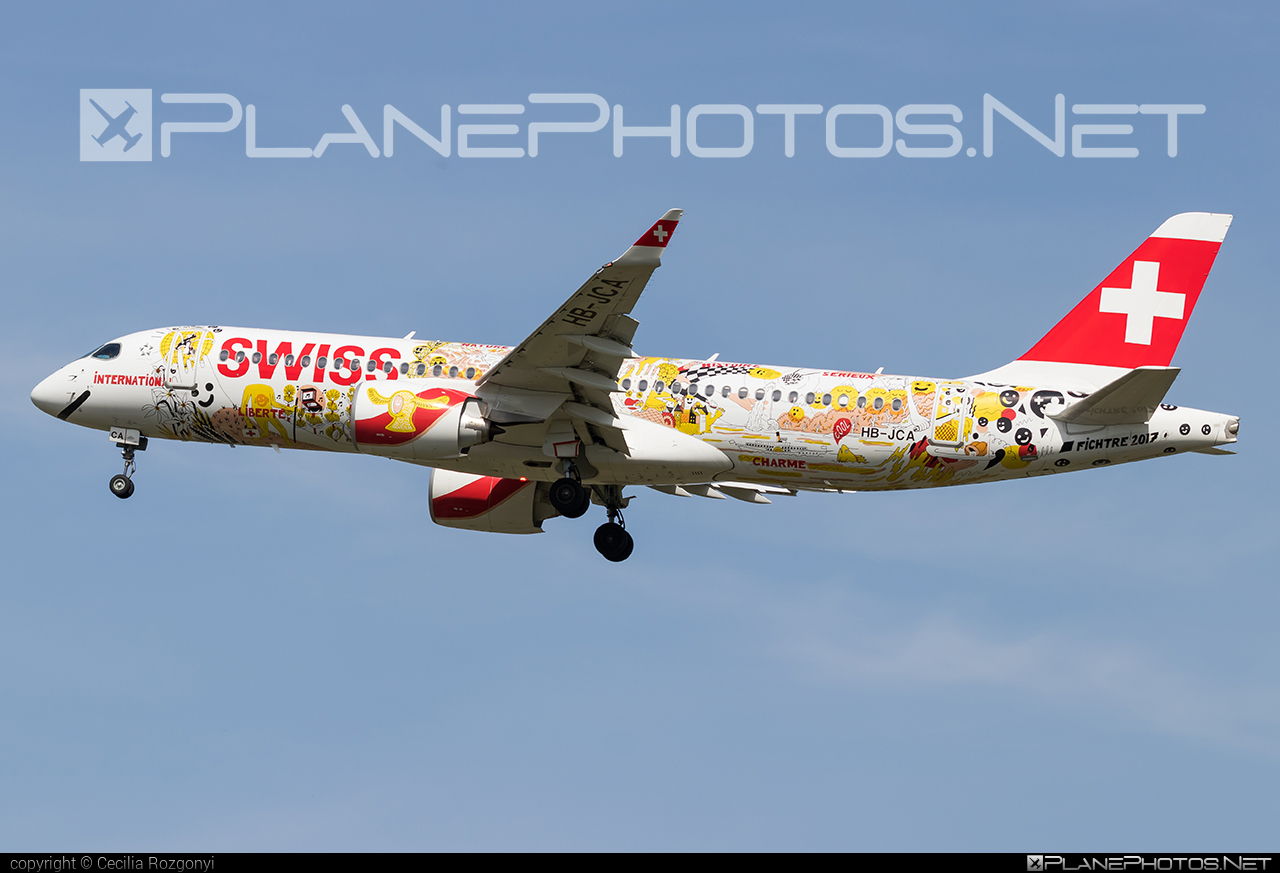 Swiss International Air Lines Bombardier BD-500-1A11 C Series CS300 - HB-JCA #bombardier #cs300 #cseries #cseries300 #swiss #swissairlines