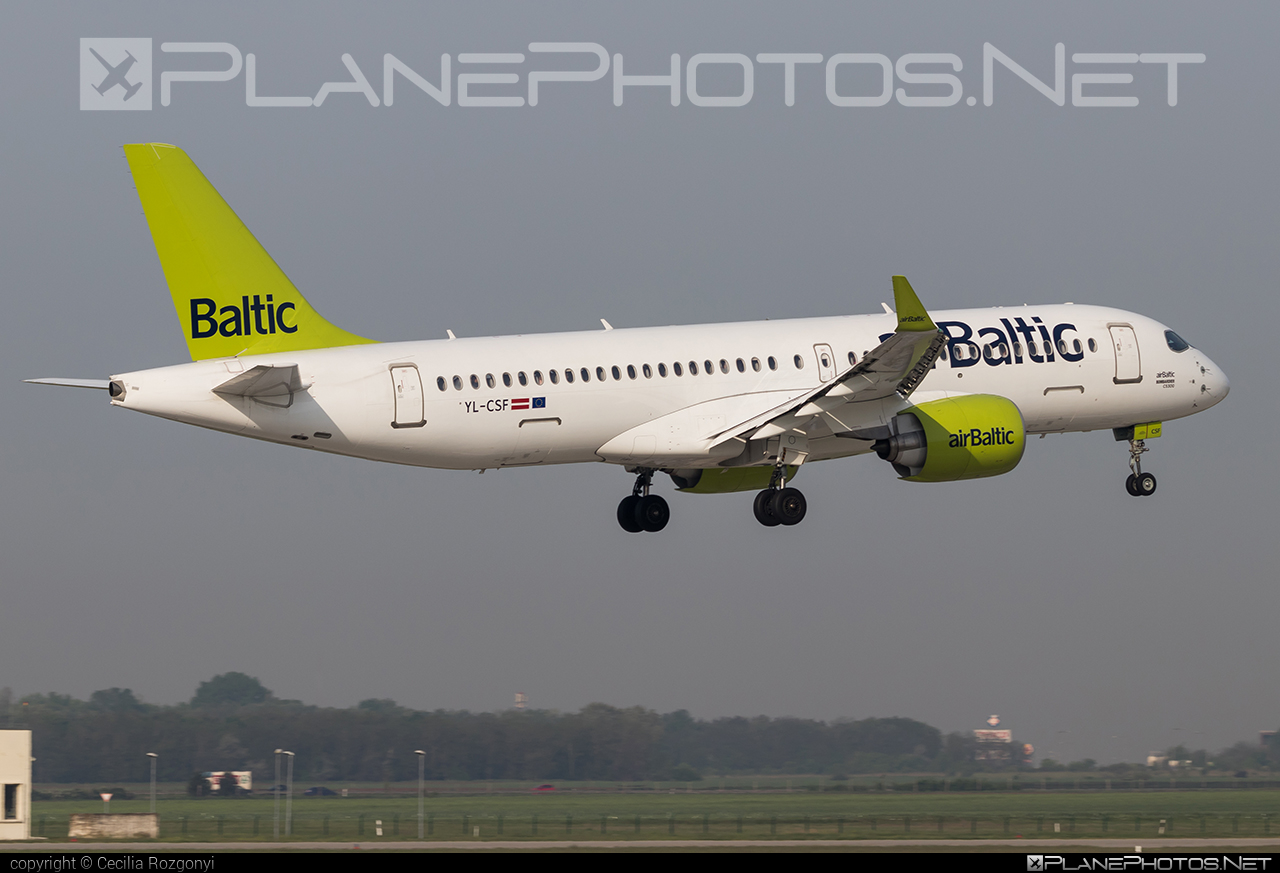 Bombardier BD-500-1A11 C Series CS300 - YL-CSF operated by Air Baltic #airbaltic #bombardier #cs300 #cseries #cseries300