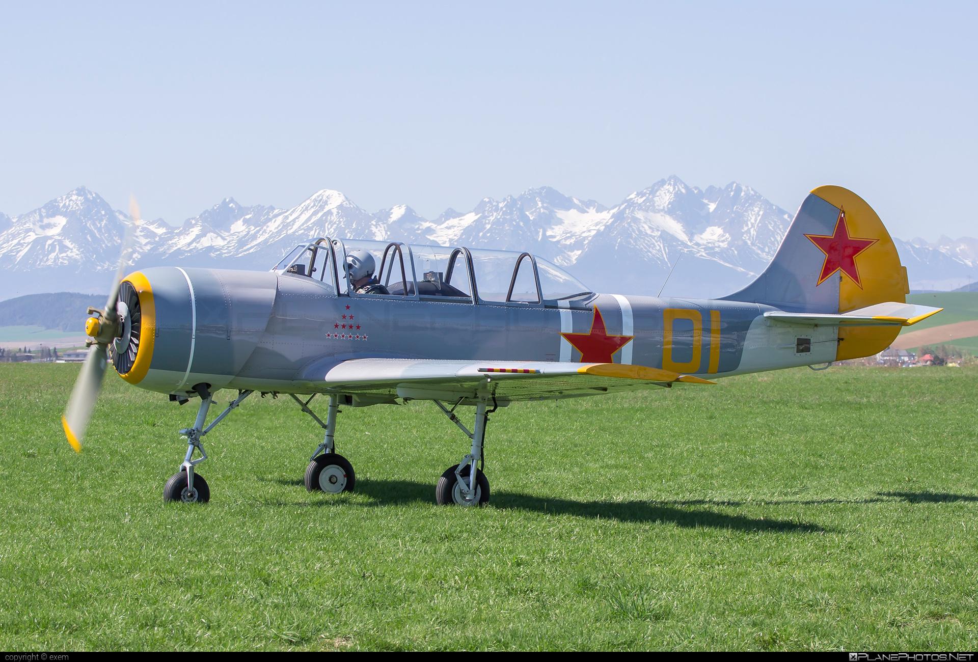 Aerostar Iak-52 - OM-JKK operated by Private operator #iak52 #yak52