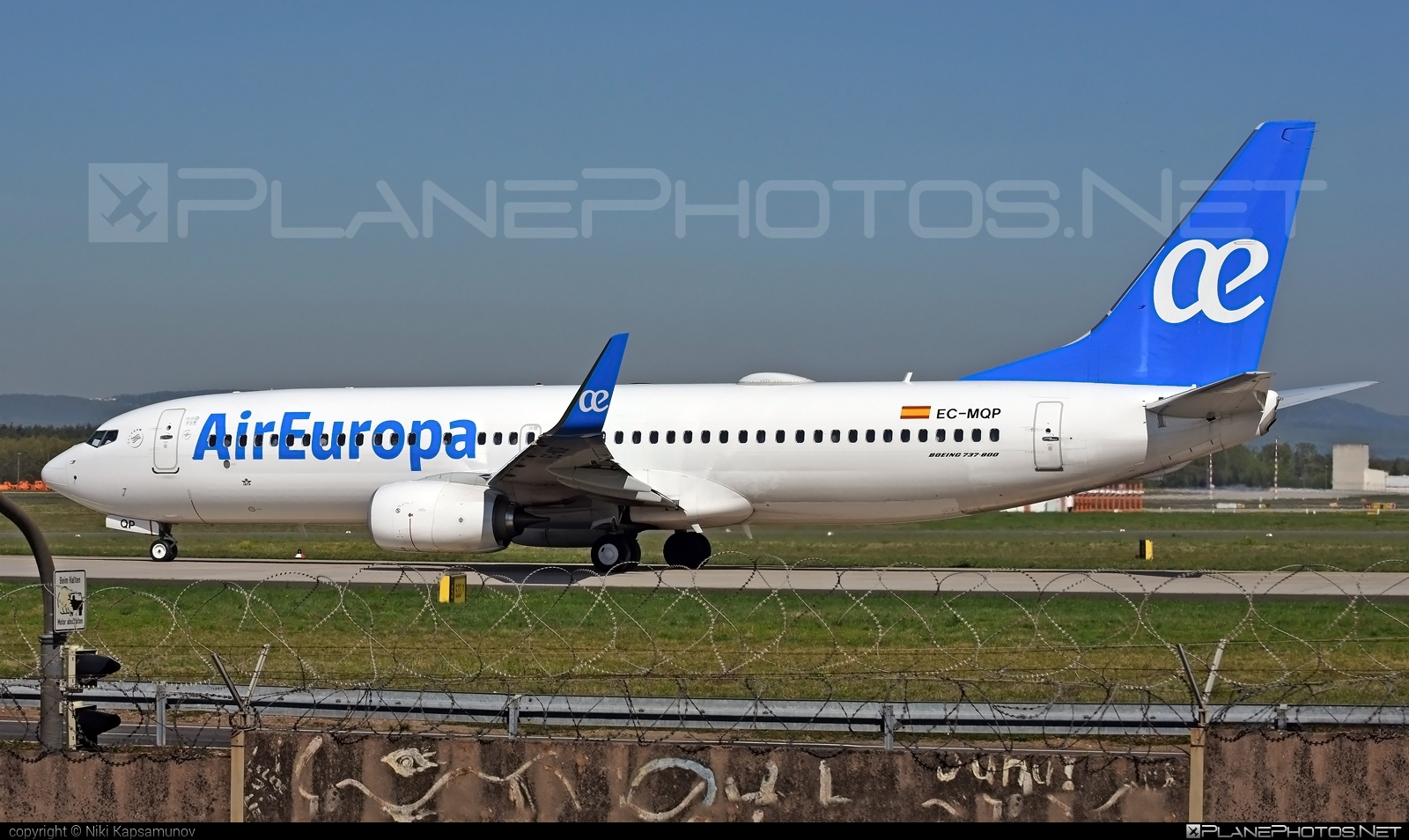 Air Europa Boeing 737-800 - EC-MQP #b737 #b737nextgen #b737ng #boeing #boeing737