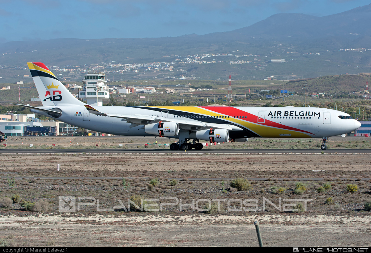 Airbus A340-313 - OO-ABB operated by Air Belgium #a340 #a340family #airbelgium #airbus #airbus340