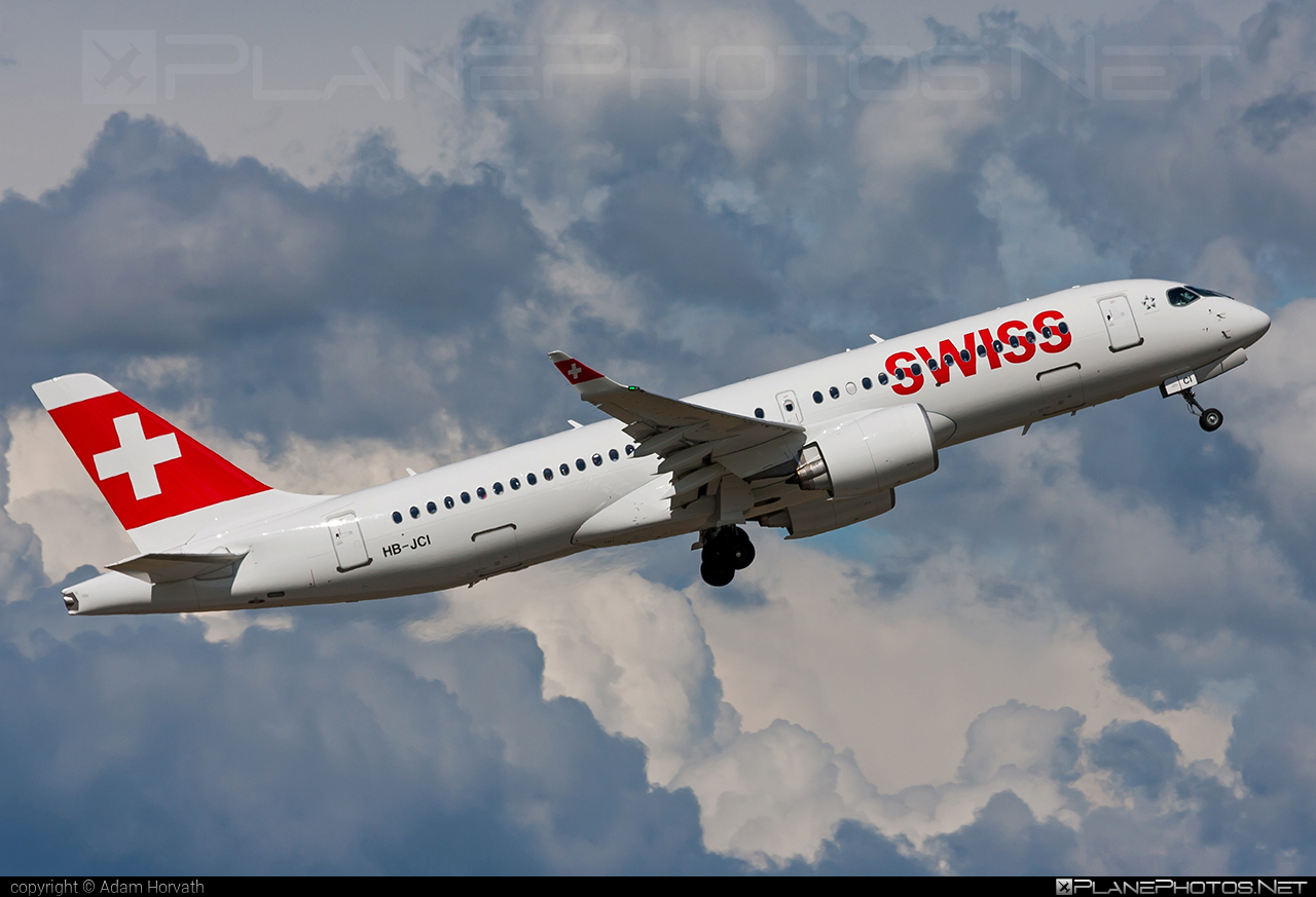 Bombardier BD-500-1A11 C Series CS300 - HB-JCI operated by Swiss International Air Lines #bombardier #cs300 #cseries #cseries300 #swiss #swissairlines