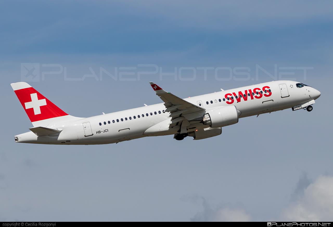 Swissair Bombardier BD-500-1A11 C Series CS300 - HB-JCI #bombardier #cs300 #cseries #swissair