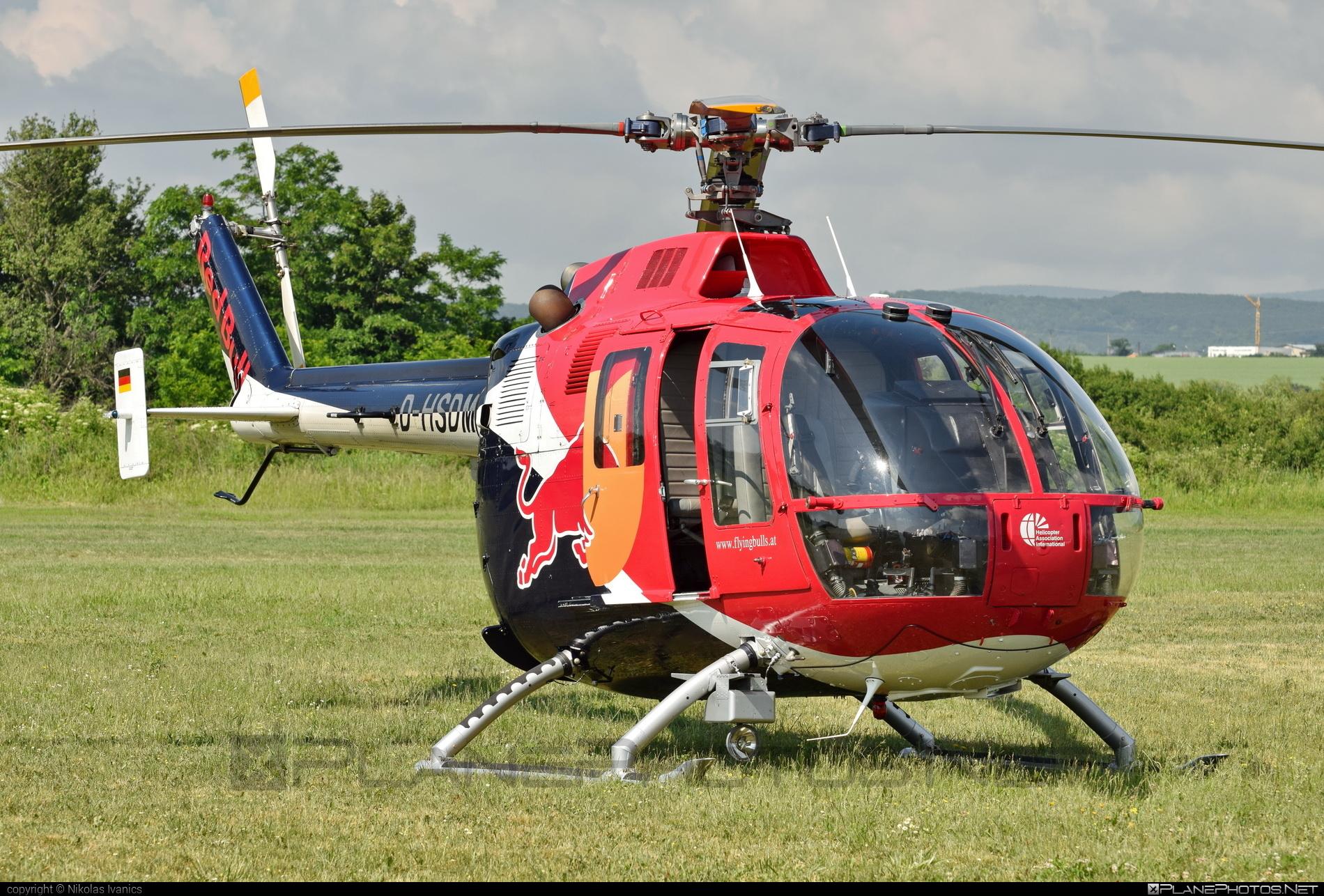 MBB Bo 105CBS-5 - D-HSDM operated by The Flying Bulls #mbb #theflyingbulls