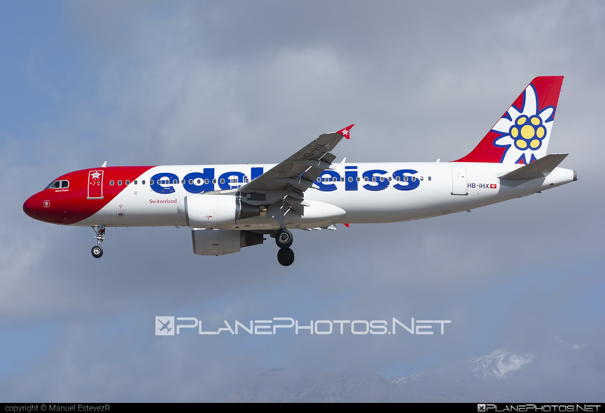 Airbus A320-214 - HB-IHX operated by Edelweiss Air #a320 #a320family #airbus #airbus320