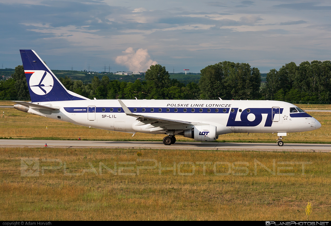 Embraer E175LR (ERJ-170-200LR) - SP-LIL operated by LOT Polish Airlines #e175 #embraer #embraer175 #embraer175lr #erj170200 #erj170200lr #erj175 #erj175lr #lot #lotpolishairlines