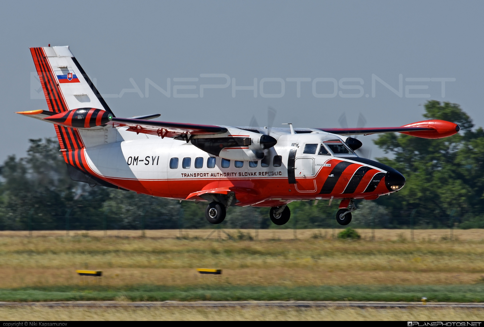 Dopravný úrad SR (Transport Authority of the Slovak Republic) Let L-410UVP-E-LW Turbolet - OM-SYI #let
