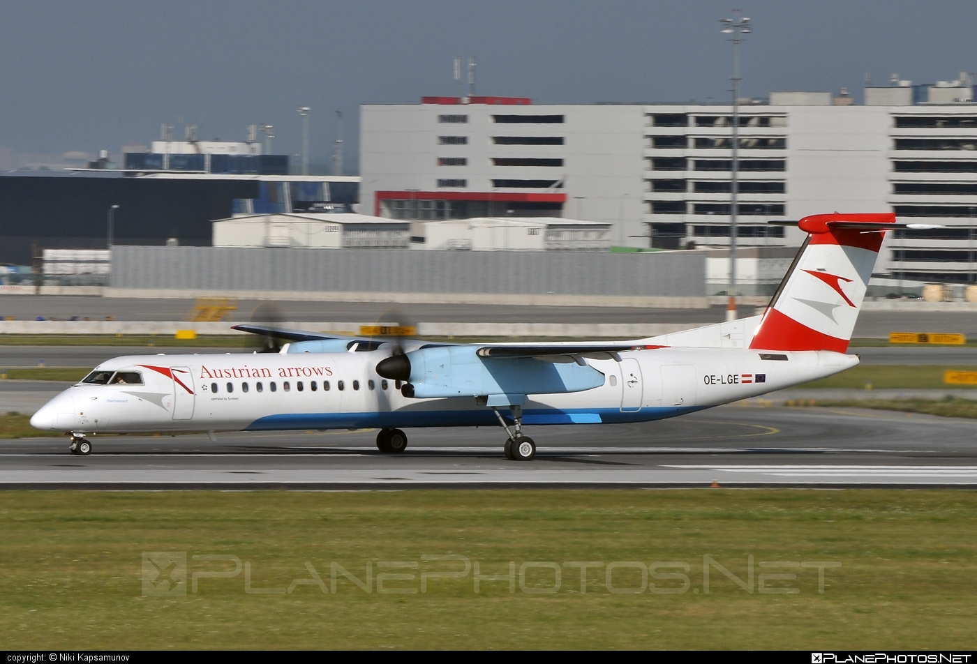 Bombardier DHC-8-Q402 Dash 8 - OE-LGE operated by Austrian arrows (Tyrolean Airways) #bombardier #dash8 #dhc8 #dhc8q402