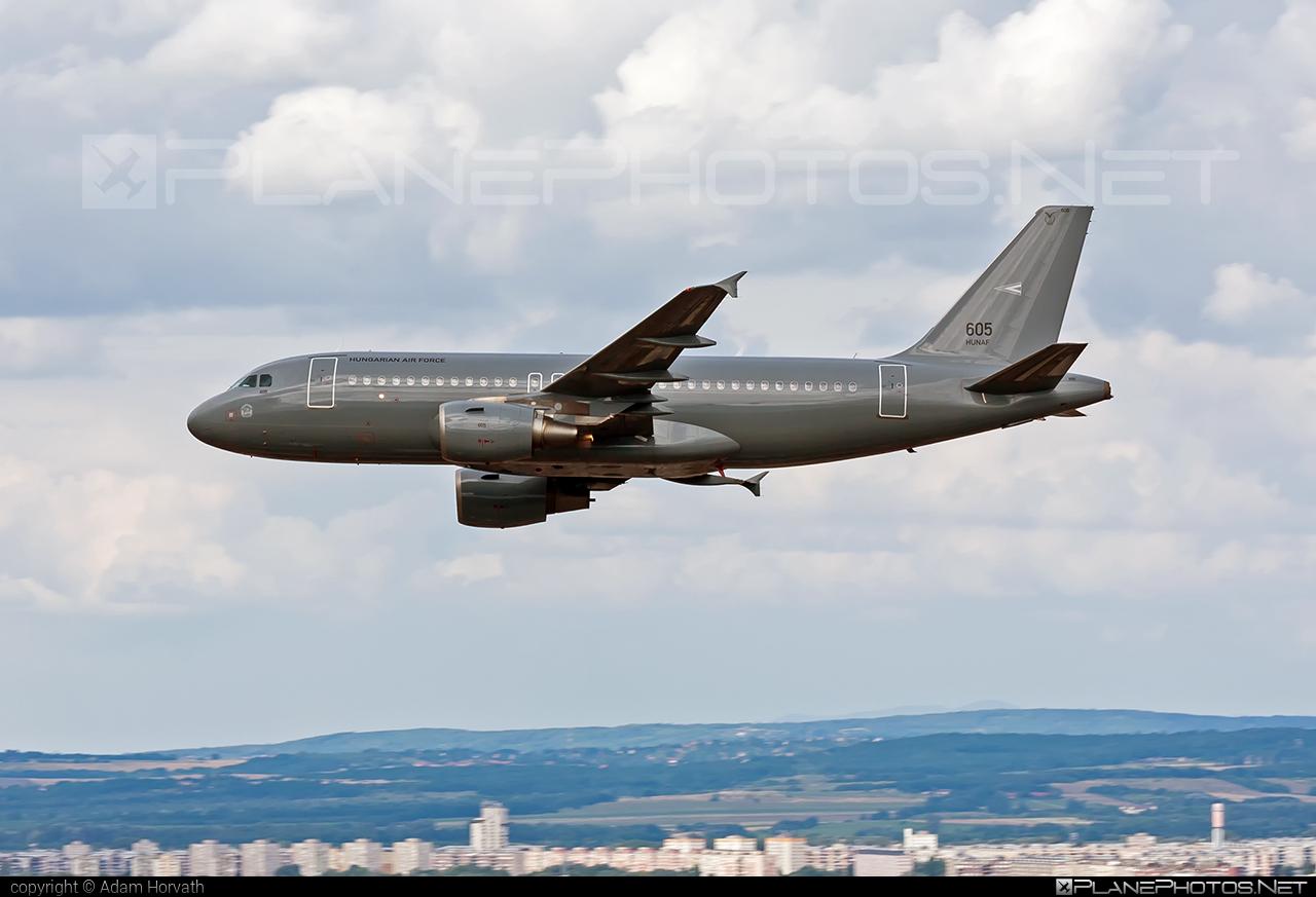 Airbus A319-112 - 605 operated by Magyar Légierő (Hungarian Air Force) #a319 #a320family #airbus #airbus319 #hungarianairforce #magyarlegiero #redbullairrace #redbullairracebudapest
