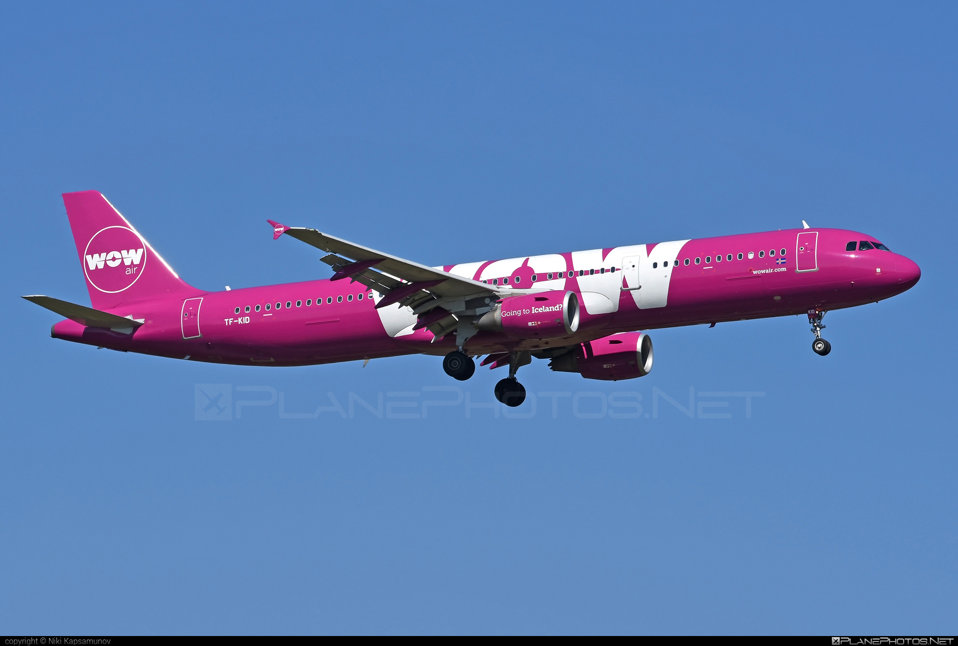 Airbus A321-211 - TF-KID operated by WOW air #a320family #a321 #airbus #airbus321