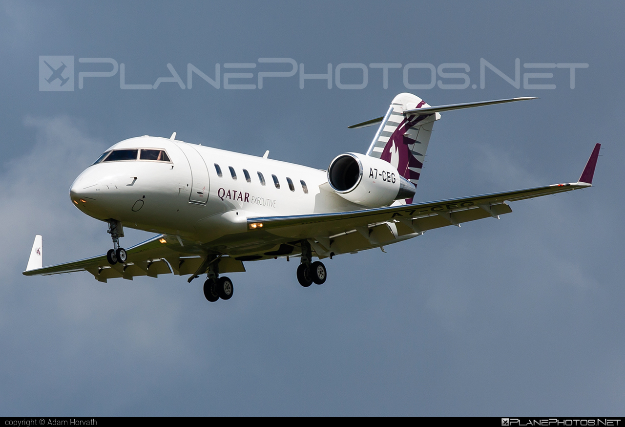 Canadair Challenger 605 (CL-600-2B16) - A7-CEG operated by Qatar Executive #canadair #challenger605 #cl6002b16