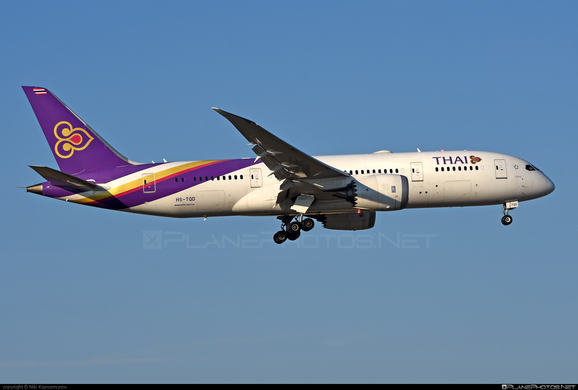 Boeing 787-8 Dreamliner - HS-TQD operated by Thai Airways #b787 #boeing #boeing787 #dreamliner #thaiairways