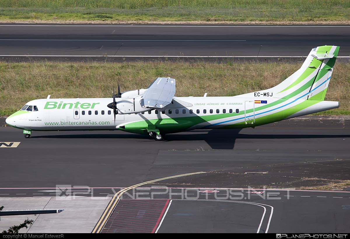 ATR 72-600 - EC-MSJ operated by Binter Canarias #atr