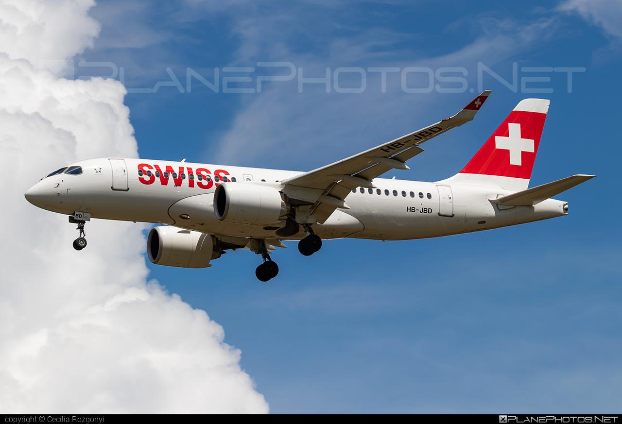 Bombardier BD-500-1A10 C Series CS100 - HB-JBD operated by Swiss International Air Lines #bombardier #cs100 #cseries #cseries100 #swiss #swissairlines