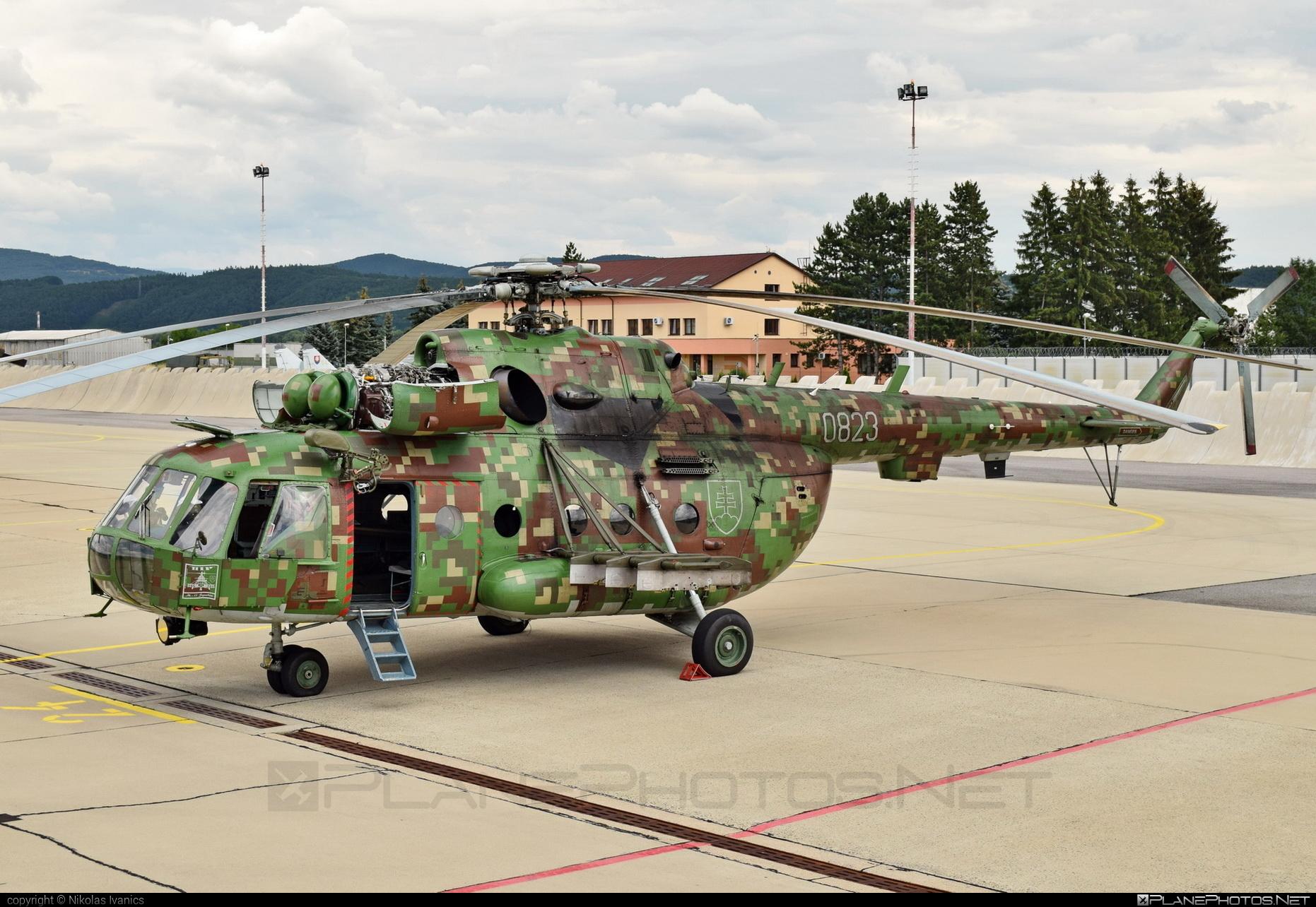Mil Mi-17 - 0823 operated by Vzdušné sily OS SR (Slovak Air Force) #mi17 #mil #mil17 #milhelicopters #slovakairforce #vzdusnesilyossr
