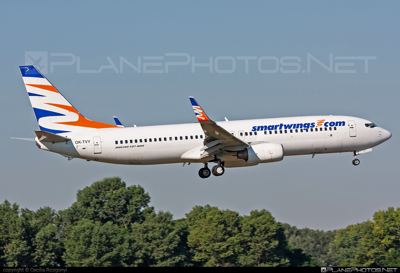 Boeing 737-800 - OK-TVY operated by Smart Wings #b737 #b737nextgen #b737ng #boeing #boeing737 #smartwings