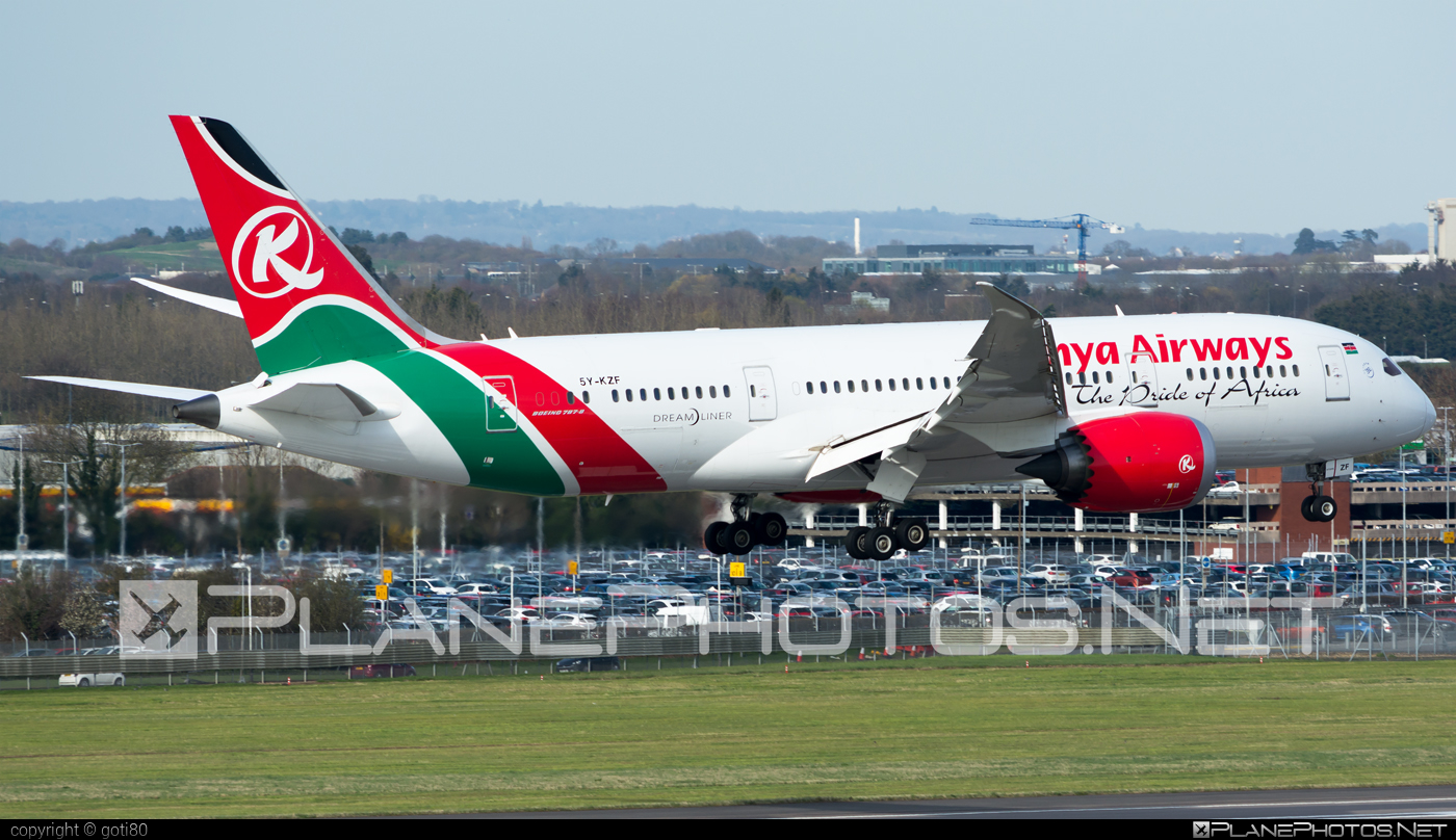 Boeing 787-8 Dreamliner - 5Y-KZF operated by Kenya Airways #b787 #boeing #boeing787 #dreamliner