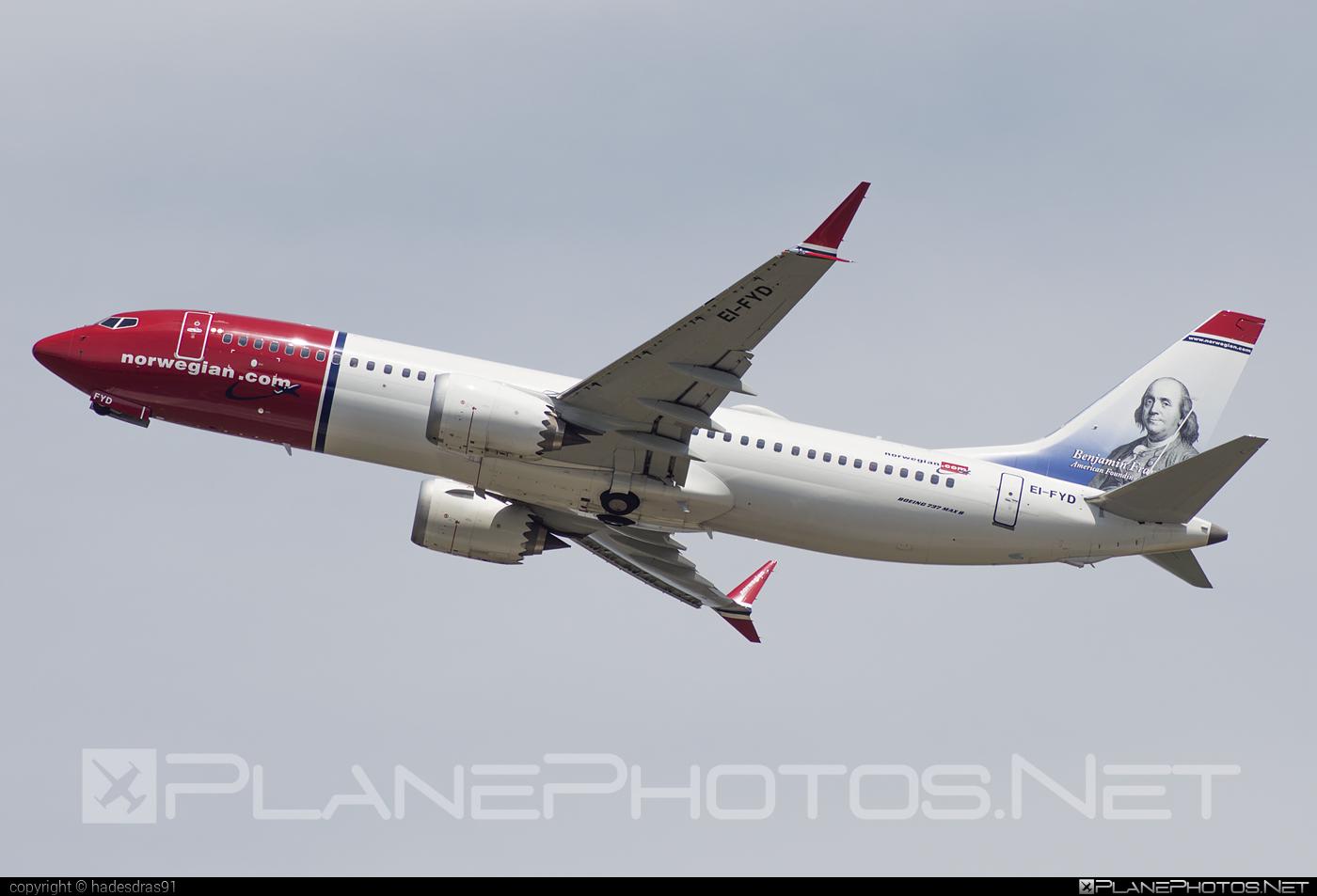 Boeing 737-8 MAX - EI-FYD operated by Norwegian Air International #b737 #b737max #boeing #boeing737 #norwegian #norwegianair #norwegianairinternational